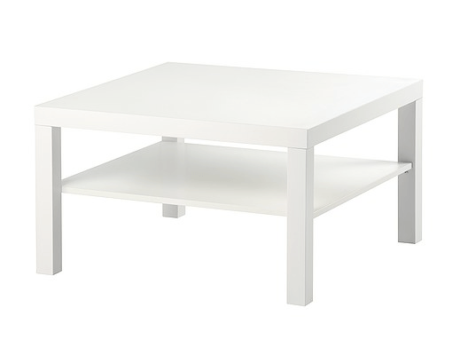 White Coffee Table Square