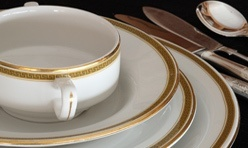 Churchill – Greek Key Crockery Set.
