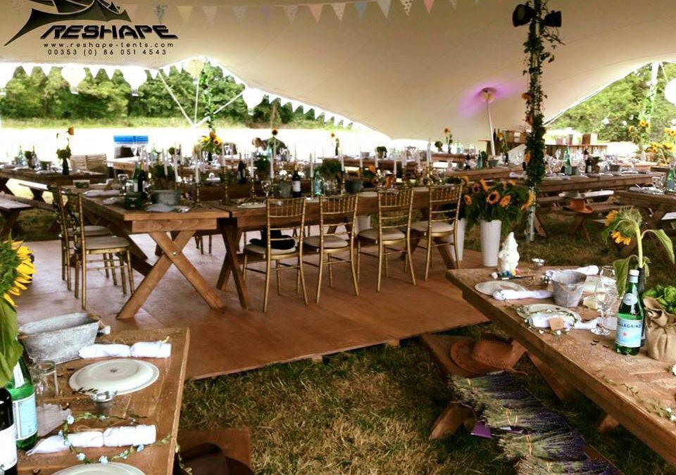 Rustic Marquee Party Setting