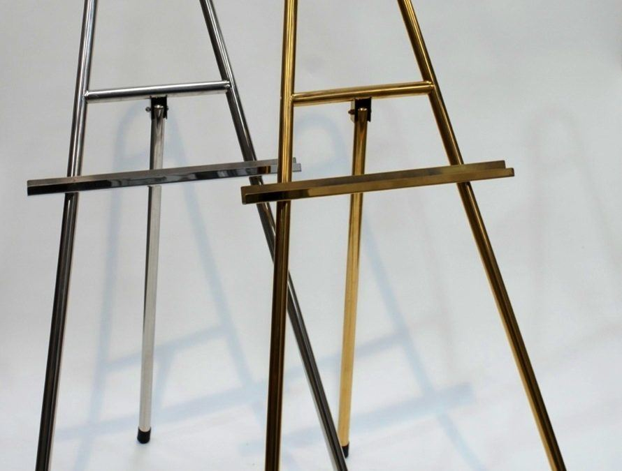 Brass and Chrome Easels