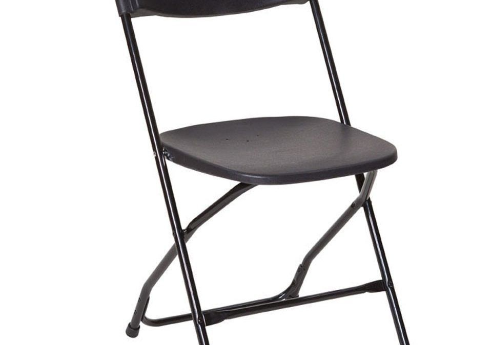 Folding Exam Chair Black