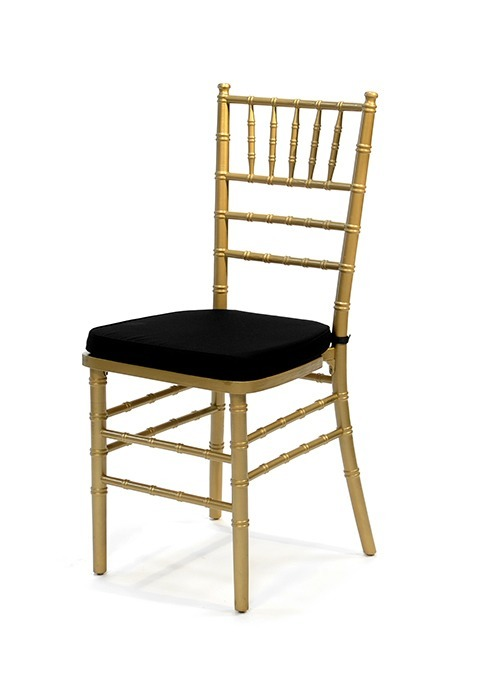 Chiavari Chair with Black Seat Pad National Event Hire