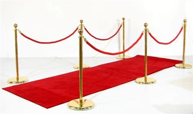 Red Carpet with Stanchion and Ropes