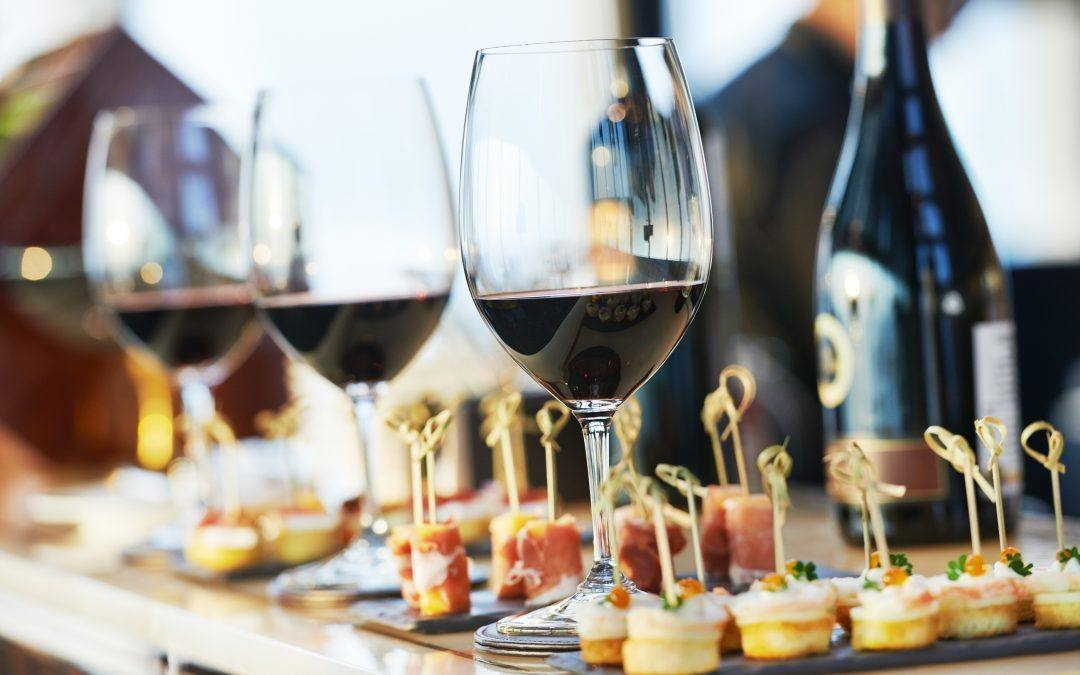 Catering Services with Snacks and Glasses