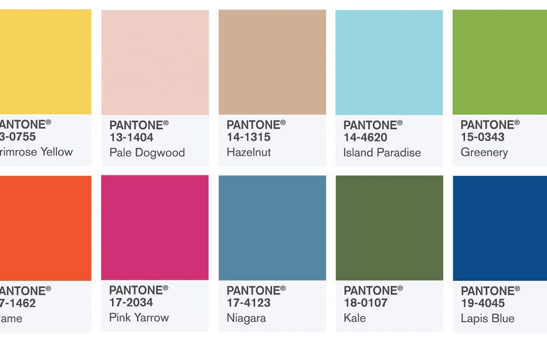 Pantone Colour Trends for 2017