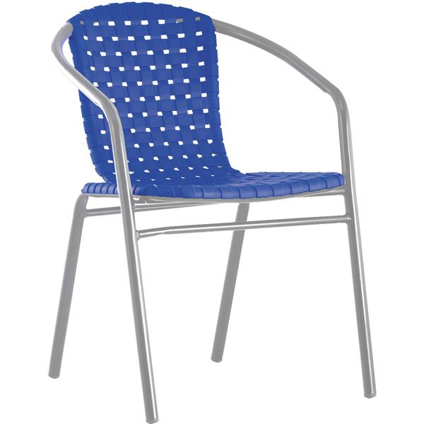 Aluminium blue chair