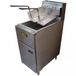 Double basket gas fryer