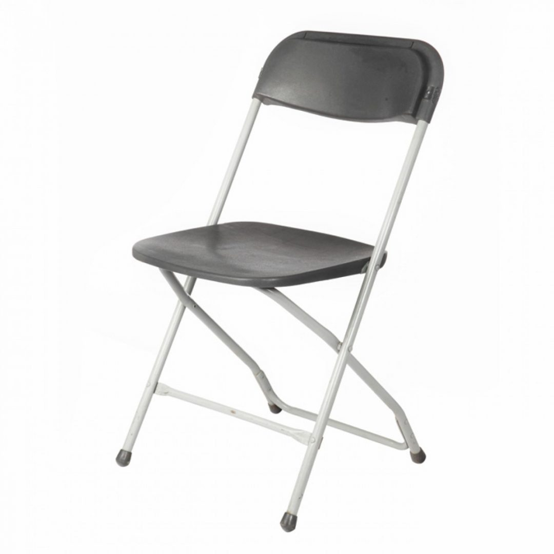 Kitchen Furniture Tralee: Charcoal Folding Chair