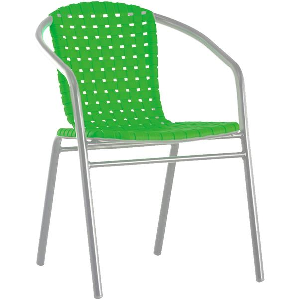 Aluminium green chair