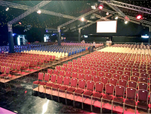 National Event Hire seating at Rose of Tralee festival 2016.