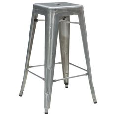 Tolix silver stool