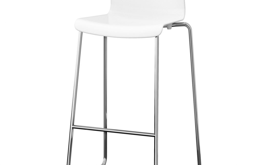 White High Back Stool