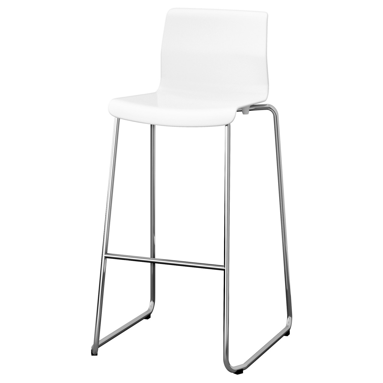 White high back stool